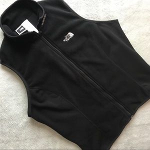 The North Face Full Zip Fleece Layer Vest Black